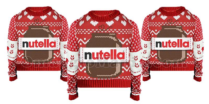 maglioncini di Natale Nutella