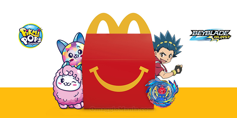 sorprese Happy Meal McDonald's Pikmi Pops e Beyblade Burst