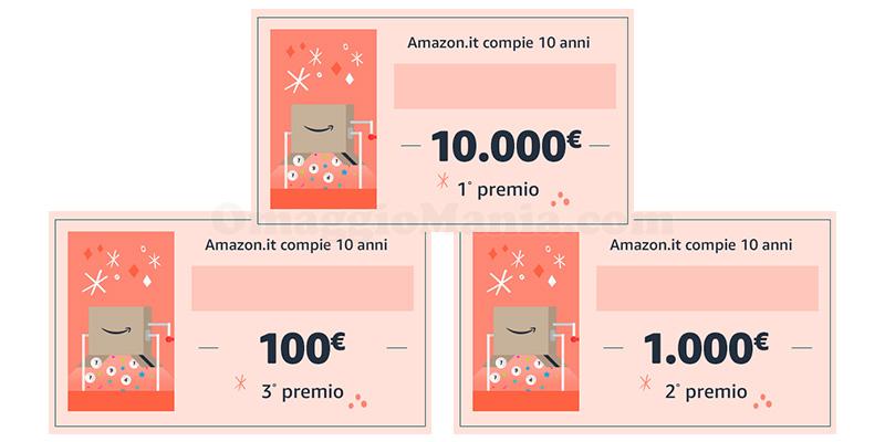 vincitori concorso Amazon.it compie 10 anni, festeggia con noi