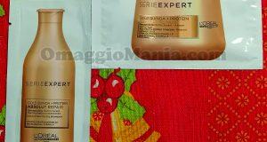 campioni omaggio Absolut Repair shampoo e maschera di Sole