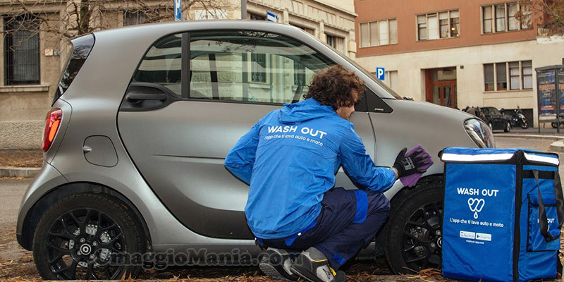 lavaggio auto a domicilio con Wash Out