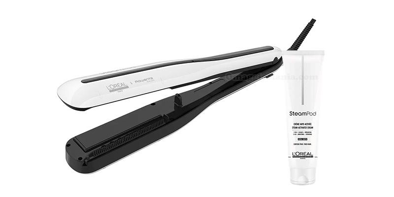 piastra a vapore SteamPod 3.0 e crema lisciante SteamPod L'Oréal Professionnel