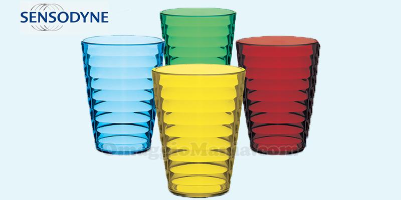 GSK ti regala 4 bicchieri Cosmoplast con Sensodyne