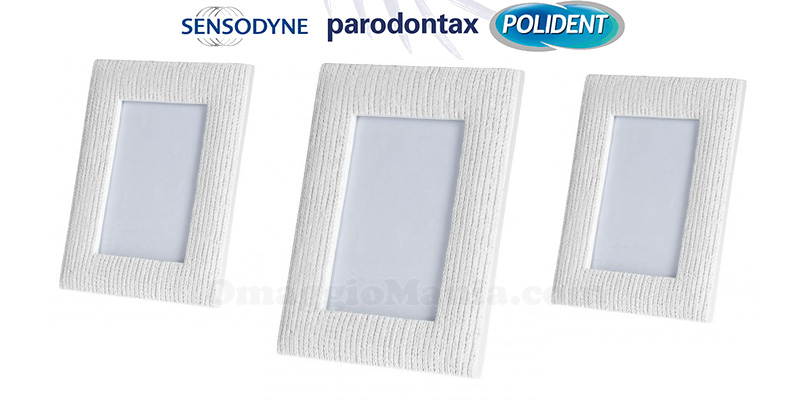 GSK ti regala il portafoto Sensodyne, Parodontax, Polident