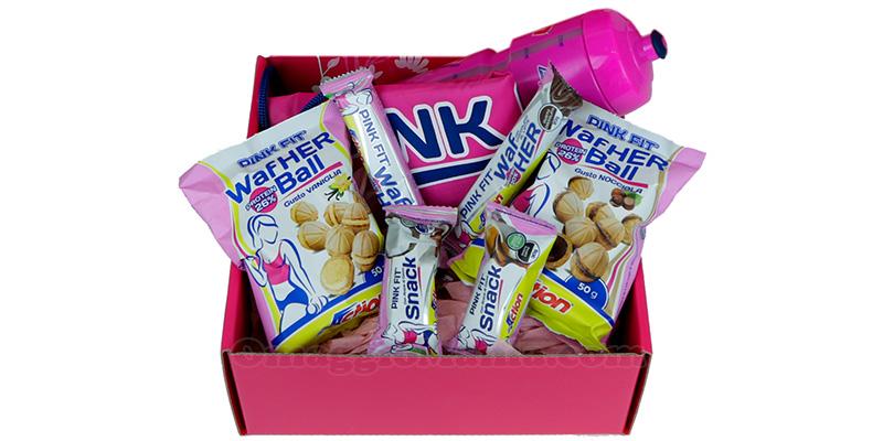 box Hello Pink con prodotti Pink Fit