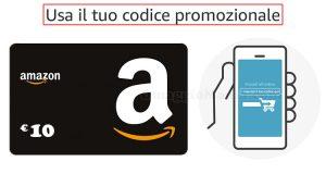 codice promozionale primo acquisto app Amazon