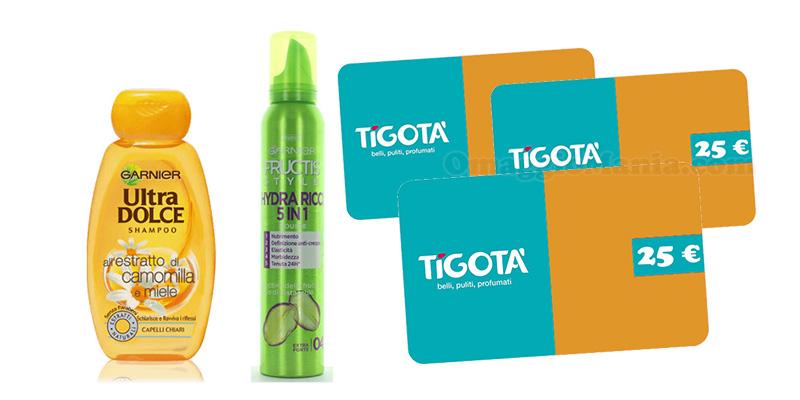 concorso Ultradolce, Hair Food, Fructis Style e Colorista ti regalano una card Tigotà da 25€