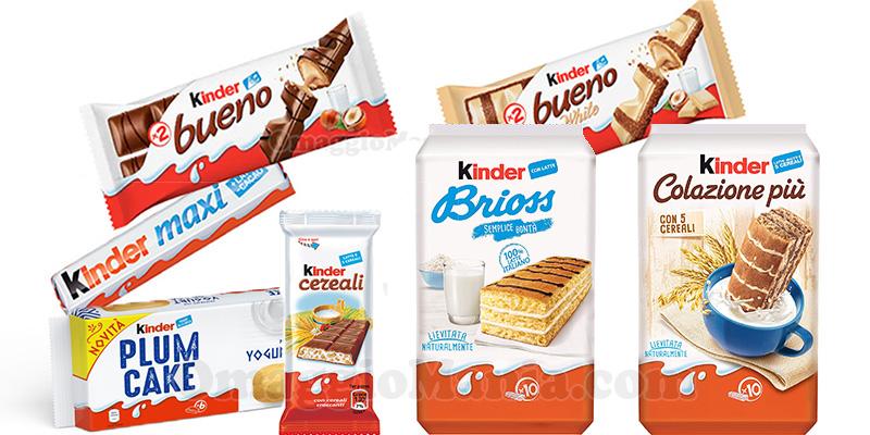 fornitura prodotti Kinder