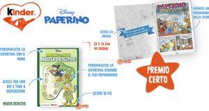 fumetto Disney Paperino omaggio Kinder 2021