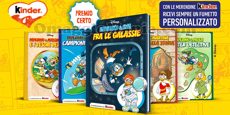 fumetto personalizzato Kinder Disney Paperino 2021