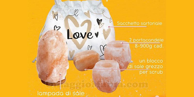 kit confezione regalo My Custom Style con lampada di sale
