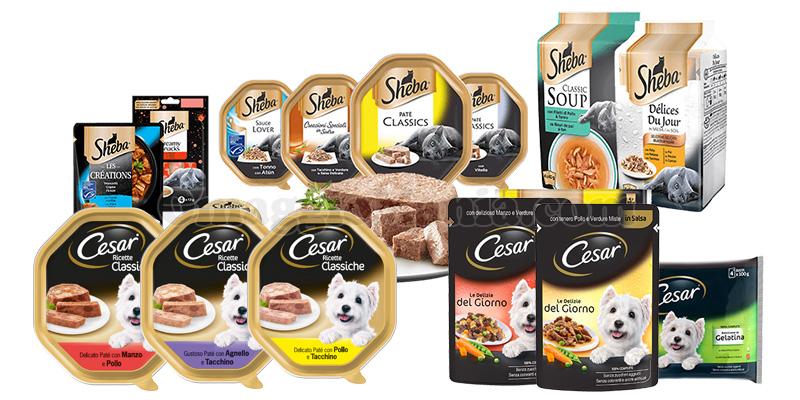 prodotti Cesar e Sheba