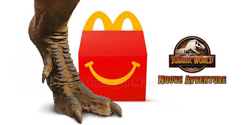 sorprese Happy Meal Jurassic World Nuove Avventure