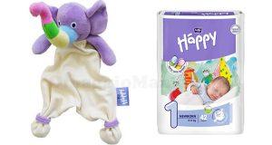 Doudou Elefante e pacco di pannolini Happy