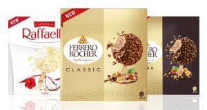 Gelati Ferrero Rocher e Raffaello