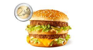 big mac a 2 euro da McDonald's