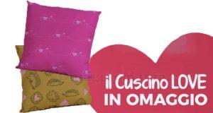 cuscino Love omaggio Tigotà San Valentino 2021