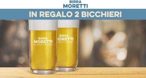 Birra Moretti ti regala i due bicchieri di Filtrata a Freddo