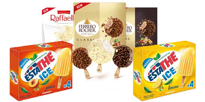 gelati Ferrero e Estathé