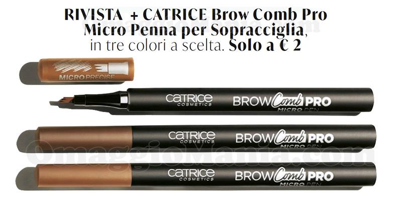 anticipazione Catrice Brow Comb Pro con Grazia