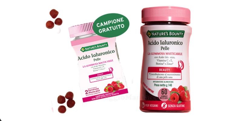 gommosa masticabile Nature's Bounty Acido Ialuronico Pelle