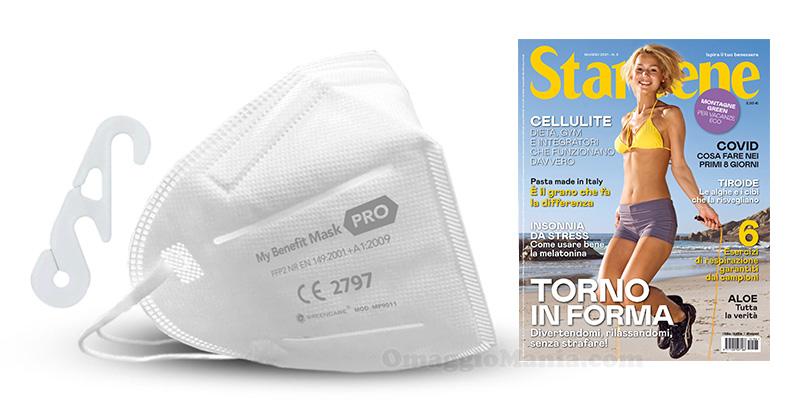 mascherina FFP2 My Benefit con Starbene giugno 2021