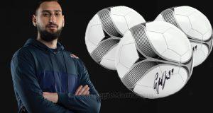 vinci palloni autografati da Donnarumma con Red Bull