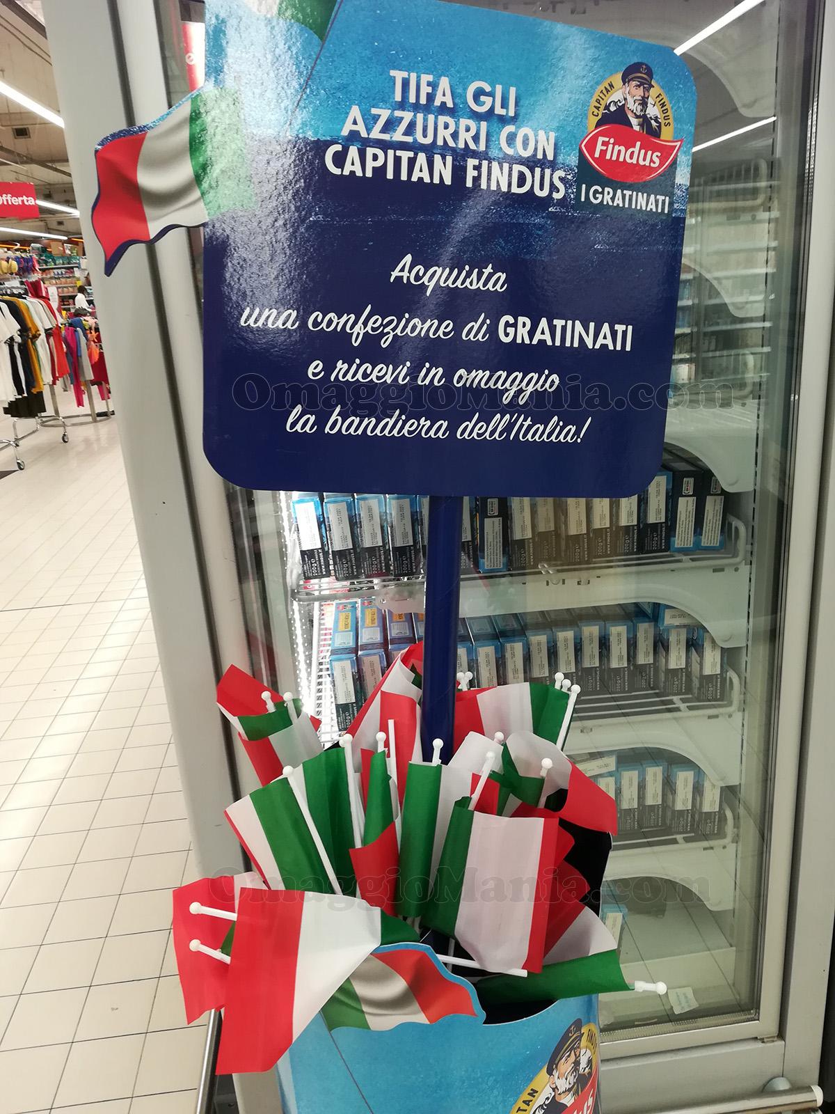 bandiera Italia con Findus Gratinati