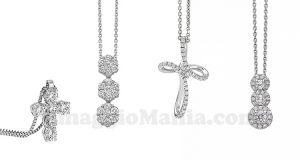 girocollo in oro bianco e diamanti Giorgio Visconti