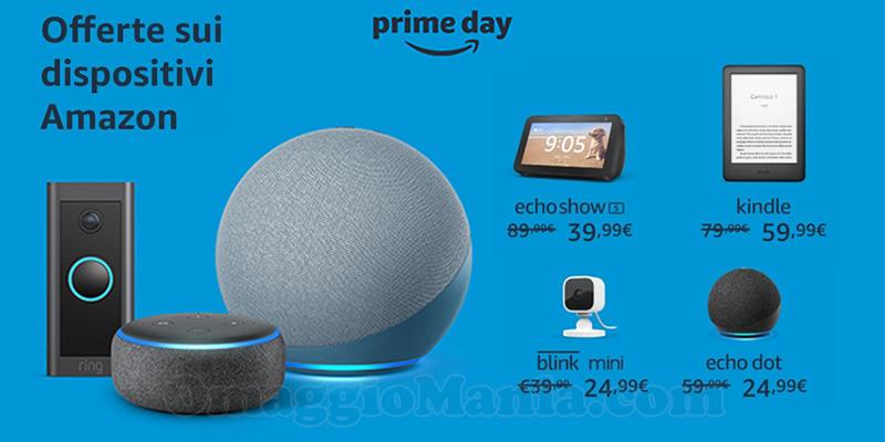offerte dispositivi Amazon Prime Day 2021
