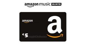 5 euro Amazon con Amazon Music Unlimited