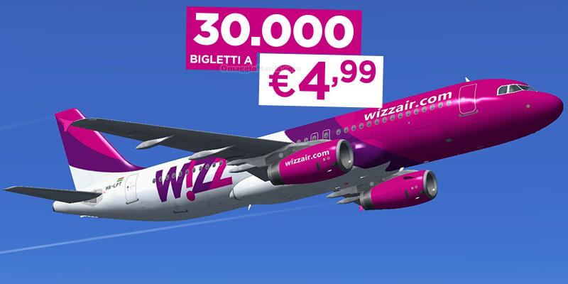 Wizz Air 30000 biglietti a 4,99 euro