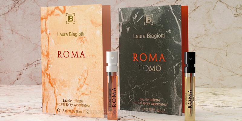 campioni omaggio Laura Biagiotti Roma e Roma Uomo