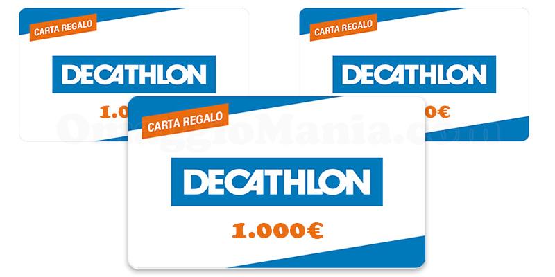 carte regalo Decathlon 1000 euro