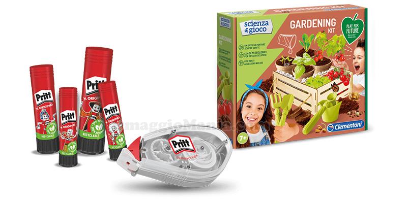 concorso Acquista Pritt e prova a vincere Gardening Kit Clementoni