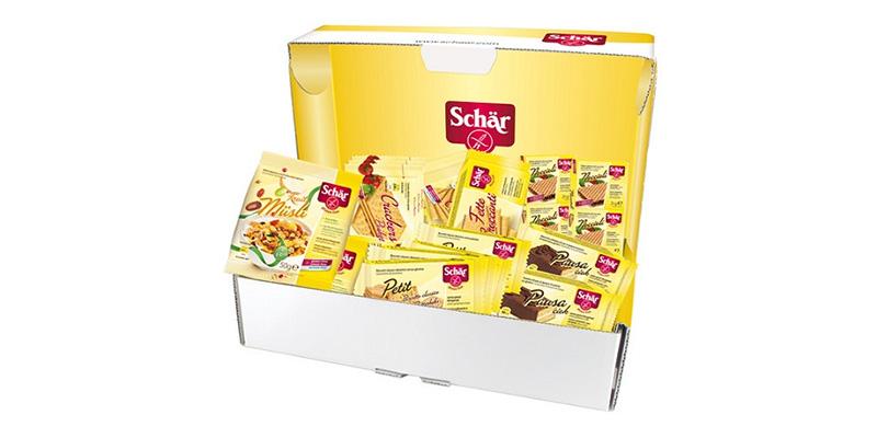 box di prodotti Schär
