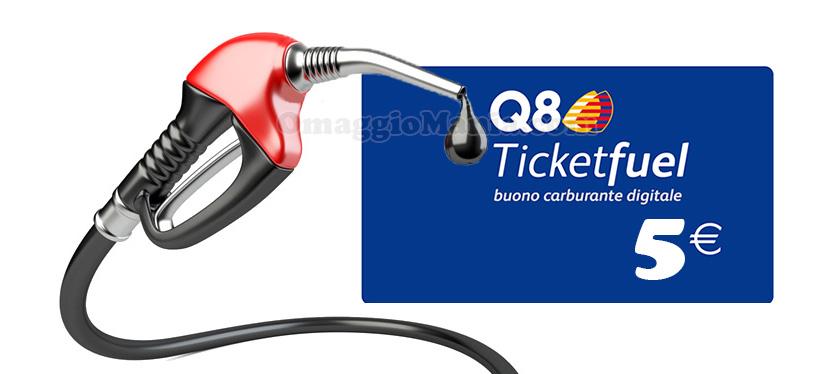 buono carburante Q8 5 euro