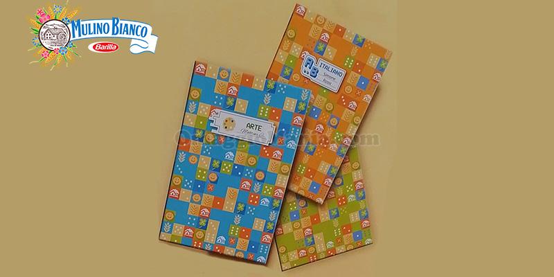 quaderno con stickers omaggio con Mulino Bianco