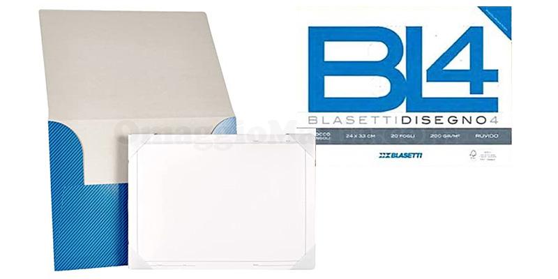 album liscio BL4 Blasetti con 20 fogli e cartellina