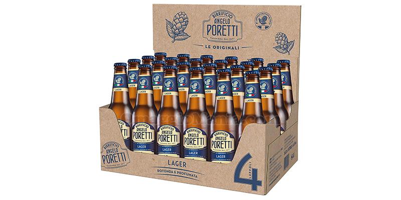 cassa birra Angelo Poretti 4 Luppoli Lager 24 Bottiglie da 33 cl