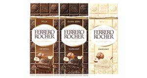 tavolette di cioccolato Ferrero Rocher Italia