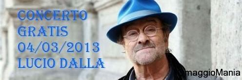 concerto gratuito Lucio Dalla