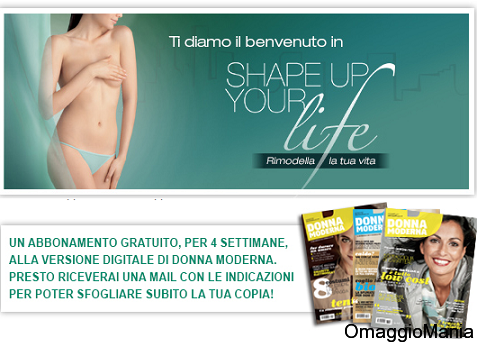 abbonamento gratis rivista Donna Moderna digitale