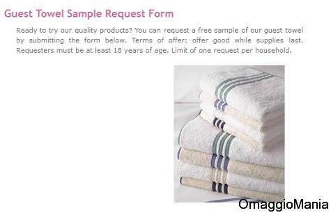 asciugamano ospiti omaggio da IM International