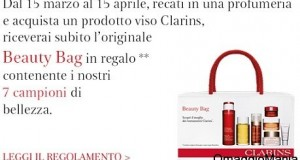 beauty bag omaggio da clarins