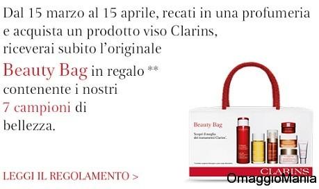 beauty bag omaggio da clarins