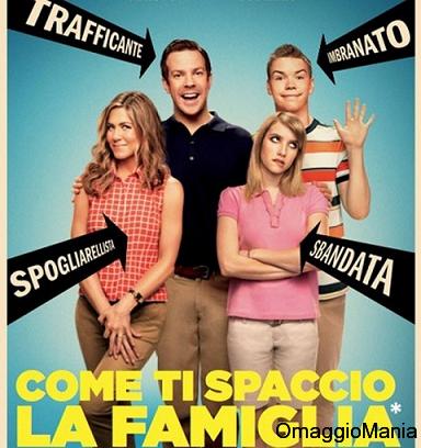 """biglietti gratis cinema """"Come ti spaccio la famiglia"""""""