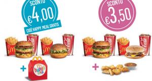 buoni sconto McDonalds fino al 22 settembre