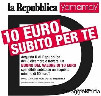buono sconto 10 euro Yamamay