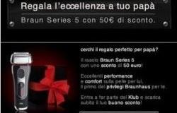 braun series 5 buono sconto 50 euro